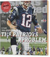 31 Teams, 1 Goal Stop Tom Brady, 2017 Nfl Football Preview Sports Illustrated Cover Wood Print