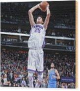 Oklahoma City Thunder V Sacramento Kings Wood Print