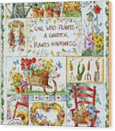 3200 Friends Are Flowers In Life's Garden Wood Print