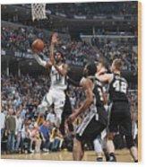 San Antonio Spurs V Memphis Grizzlies - Wood Print