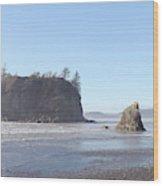 Ruby Beach Sunshine Wood Print