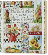 3442 Flowers Of Tomorrow Wood Print