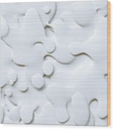 3d Abstract Wavy Background, White Wood Print