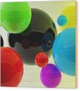 3d Balls Wood Print