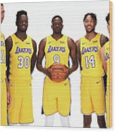 2017-18 Los Angeles Lakers Media Day Wood Print