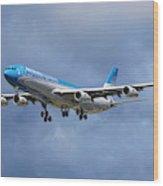 Aerolineas Argentinas Airbus A340-313 Wood Print