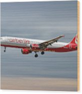 Air Berlin Airbus A321-211 Wood Print