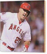 Boston Red Sox V Los Angeles Angels Of 4 Wood Print