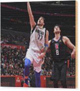 Dallas Mavericks V La Clippers Wood Print