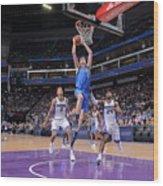 Dallas Mavericks V Sacramento Kings Wood Print