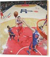 Detroit Pistons V Washington Wizards Wood Print