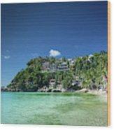 Diniwid Resort Beach View In Tropical Paradise Boracay Island Ph Wood Print