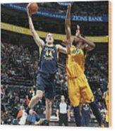 Indiana Pacers V Utah Jazz Wood Print