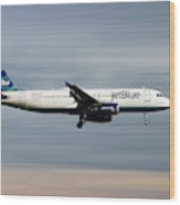 Jetblue Airways Airbus A320-232 Wood Print
