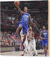 La Clippers V Cleveland Cavaliers Wood Print