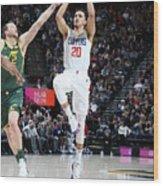 Los Angeles Clippers V Utah Jazz Wood Print