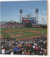 Los Angeles Dodgers V. San Francisco Wood Print