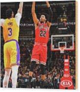 Los Angeles Lakers V Chicago Bulls Wood Print