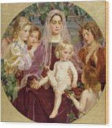 Madonna Of Giverny  Wood Print