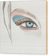 Portrait Illustration- Watercolor Painting Wood Print