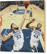 Milwaukee Bucks V Minnesota Timberwolves Wood Print