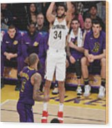 New Orleans Pelicans V Los Angeles Wood Print