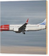 Norwegian Boeing 737 Max 8 Wood Print