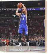 Philadelphia 76ers V Atlanta Hawks Wood Print