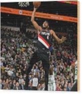 Portland Trail Blazers V Boston Celtics Wood Print