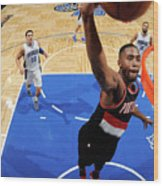 Portland Trail Blazers V Orlando Magic Wood Print