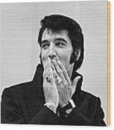 Rock And Roll Musician Elvis Presley Wood Print