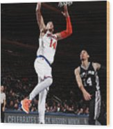 San Antonio Spurs V New York Knicks Wood Print