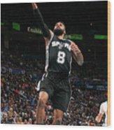 San Antonio Spurs V Oklahoma City Wood Print