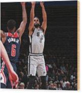 San Antonio Spurs V Washington Wizards Wood Print
