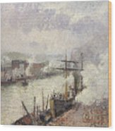 Steamboats In The Port Of Rouen  Wood Print