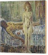 The Death Of Marat II  Wood Print