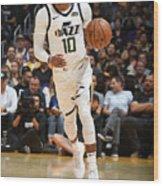 Utah Jazz V Los Angeles Lakers Wood Print