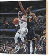 Utah Jazz V Memphis Grizzlies Wood Print