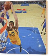 Utah Jazz V Philadelphia 76ers Wood Print