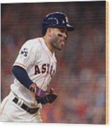 World Series - Los Angeles Dodgers V Wood Print