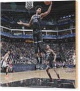 San Antonio Spurs V Sacramento Kings Wood Print