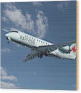 Air Canada Express Bombardier Crj-200er Wood Print