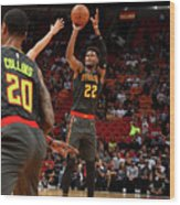 Atlanta Hawks V Miami Heat Wood Print