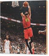 Atlanta Hawks V Toronto Raptors Wood Print