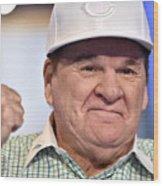 Baseball Legend Pete Rose Visits Stuart Wood Print
