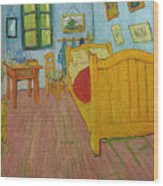 Bedroom In Arles Wood Print