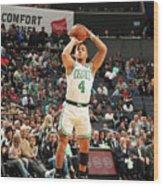 Boston Celtics V Charlotte Hornets Wood Print