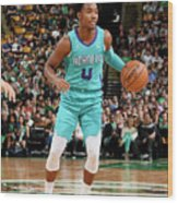 Charlotte Hornets V Boston Celtics Wood Print