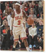 Chicago Bulls V Toronto Raptors Wood Print
