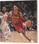 Cleveland Cavaliers V Detroit Pistons Wood Print